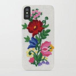 Kalocsa Motif iPhone Case
