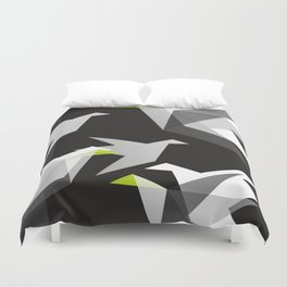 Black and White Paper Cranes Duvet Cover