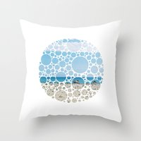 boats Throw Pillows featuring Boats by Veselka Hadzieva