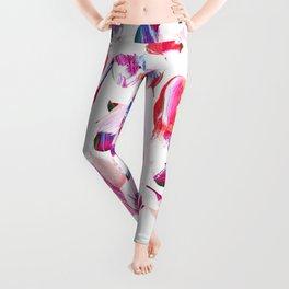 Graffiti Pink and blue Brush stroke pattern Leggings