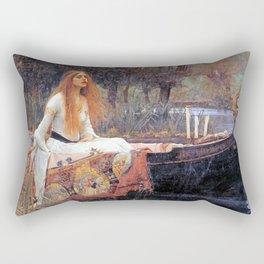 THE LADY OF SHALLOT - WATERHOUSE Rectangular Pillow