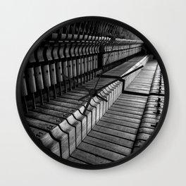 Silent Piano Keys Wall Clock