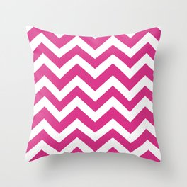 Deep cerise - fuchsia color - Zigzag Chevron Pattern Throw Pillow