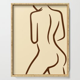 Sexy Nude Woman Serving Tray