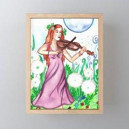 Fiddler and the Moon Framed Mini Art Print