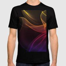 Rainbow Silks Black MEDIUM Mens Fitted Tee