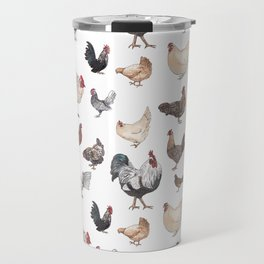 Chicken Happy (white) Travel Mug