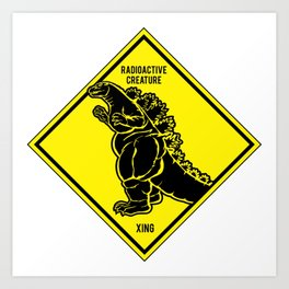 Radioactive Creature Cossing Art Print