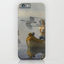 King Arthur and Excalibur iPhone Case