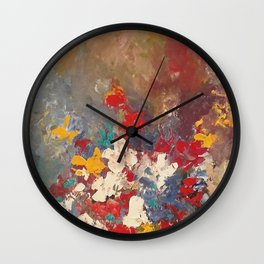 acrylic floral design by joel seguin Wall Clock