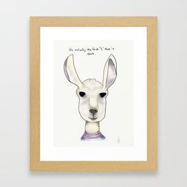 robert llama Framed Art Print