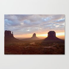 Sunrise over Monument Valley Canvas Print