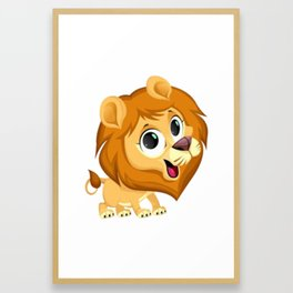 Cute Lion Framed Art Print