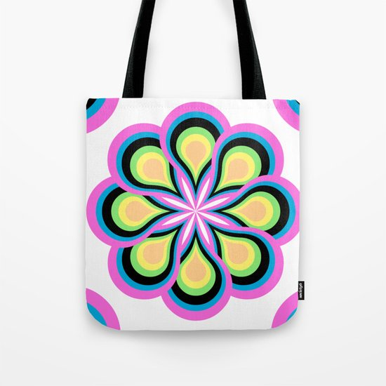 Colorful Feathers Flower Tote Bag