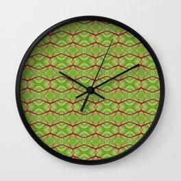 Red Chard Pattern Wall Clock