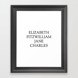 Main Characters from Pride and Prejudice  Framed Art Print