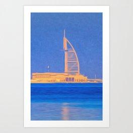 Burj AL Arab Art Art Print