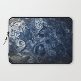 Swirling Blue Clouds of Planet Jupiter from Juno Cam Laptop Sleeve