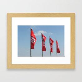 Mainz Flag Framed Art Print