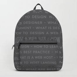 Web Design Keywords Poster. Strong Style. Backpack
