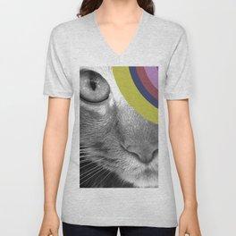 Pshycedelic Cat Unisex V-Neck