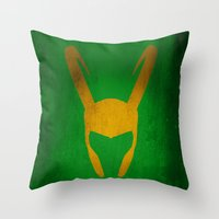 loki Throw Pillows featuring Loki by Some_Designs