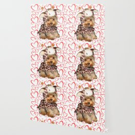 Dog | Dogs |Giraffe Costume | Yorkie with Hearts | Nadia Bonello Wallpaper