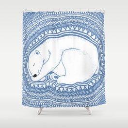 Polar bear, floe, pattern Shower Curtain