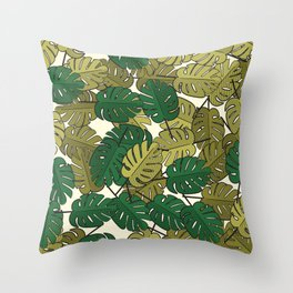 Botany: Monstera Deliciosa Throw Pillow
