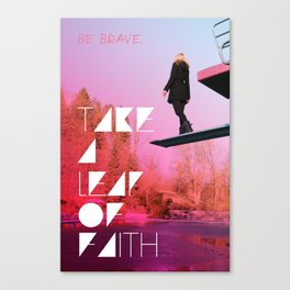 Take a leap of faith Canvas Print