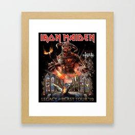 iron maiden legacy of the beast tour 2019 mawar Framed Art Print