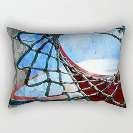 Basketball art spotlight vs 6 Rectangular Pillow