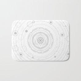 Black and white sacred geometry circle Bath Mat