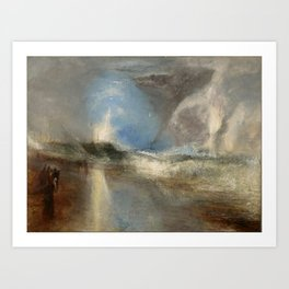 "J.M.W. Turner ""Rockets and Blue Lights (Close at Hand) to Warn Steam Boats of Shoal"" Art Print"