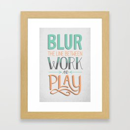 Work and Play Framed Art Print