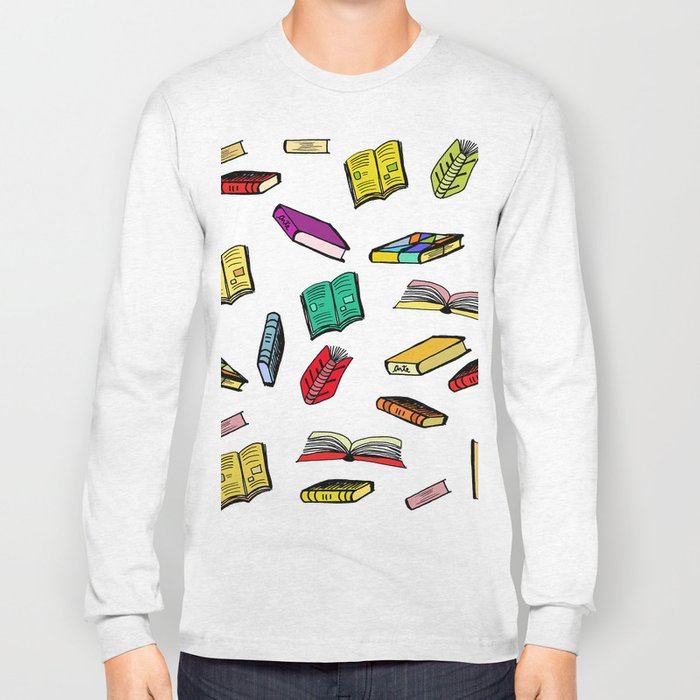 Books all over Long Sleeve T-shirt