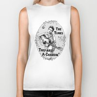 bob dylan Biker Tanks featuring Bob Dylan by Required Animals