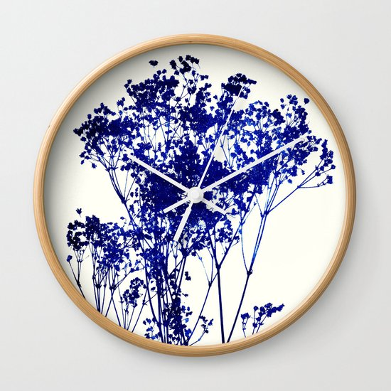 babys breath 1 Wall Clock