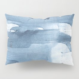 Gray Blue streaked wash drawing painting Pillow Sham