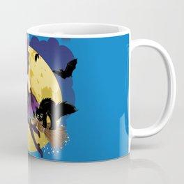 Cartoon witch flying Coffee Mug
