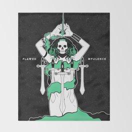 Flawed Opulence Throw Blanket