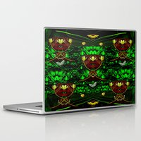 leather Laptop & iPad Skins featuring Leather Heads by Pepita Selles