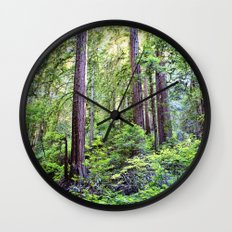 The Light Through the Woods Wall Clock