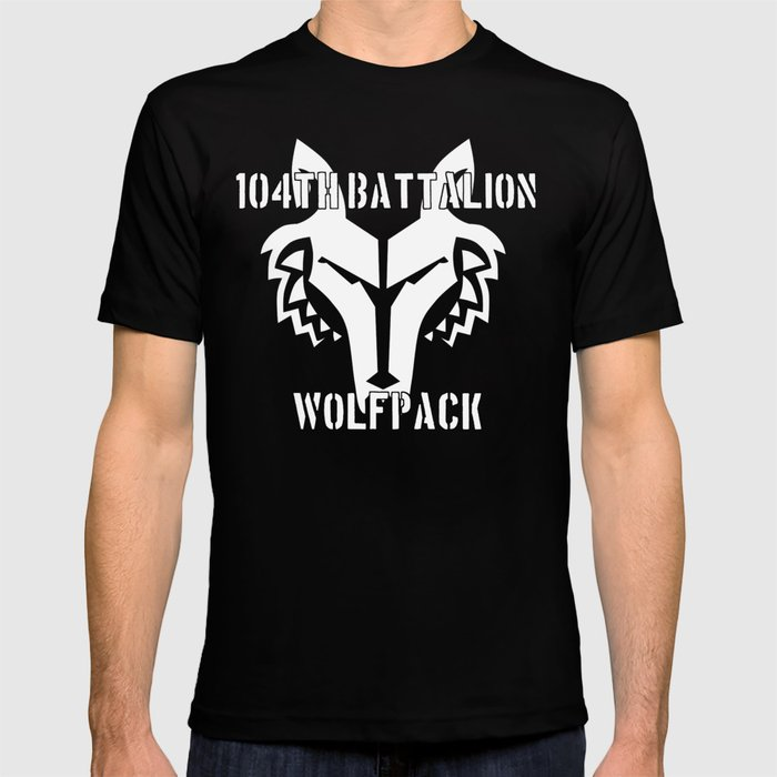 104th battalion wolfpack t shirt by theartarmature society6