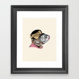 Mrs. Fish Framed Art Print