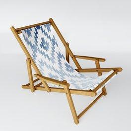 Indigo Ikat Print 3 Sling Chair