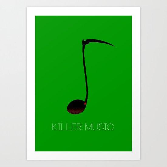 Killer music Art Print