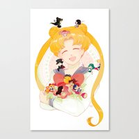 sailor moon Canvas Prints featuring Sailor Moon by cezra