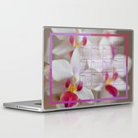 calendar Laptop & iPad Skins featuring Calendar 2015 Orchids by Lena Photo Art