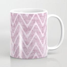 Pastel Dusty Mauve Zigzag Terrycloth Look-a-Like Coffee Mug